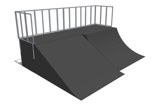 Quarter pipe + Bank ramp