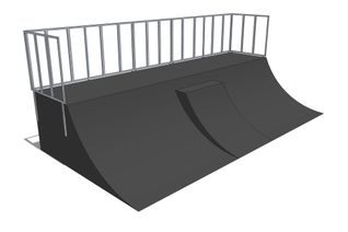 Quarter pipe + Mini quarter